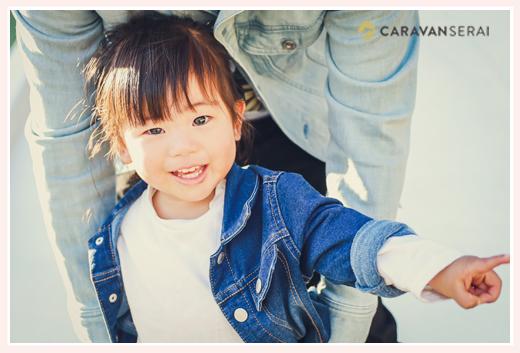 3才の女の子 女性カメラマンが撮る家族写真 愛知県刈谷市
