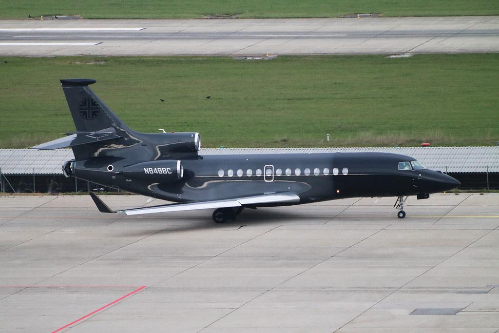 Dassault Falcon 7X Bank of Utah Trustee N848BC. GVA, November 3. 2020