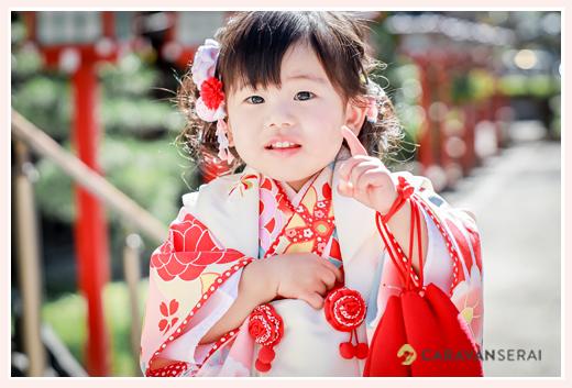 市原稲荷神社で七五三のロケーション撮影