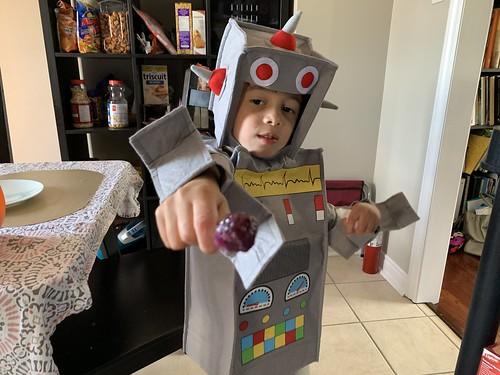 Ezra as Robot for Halloween 2020
