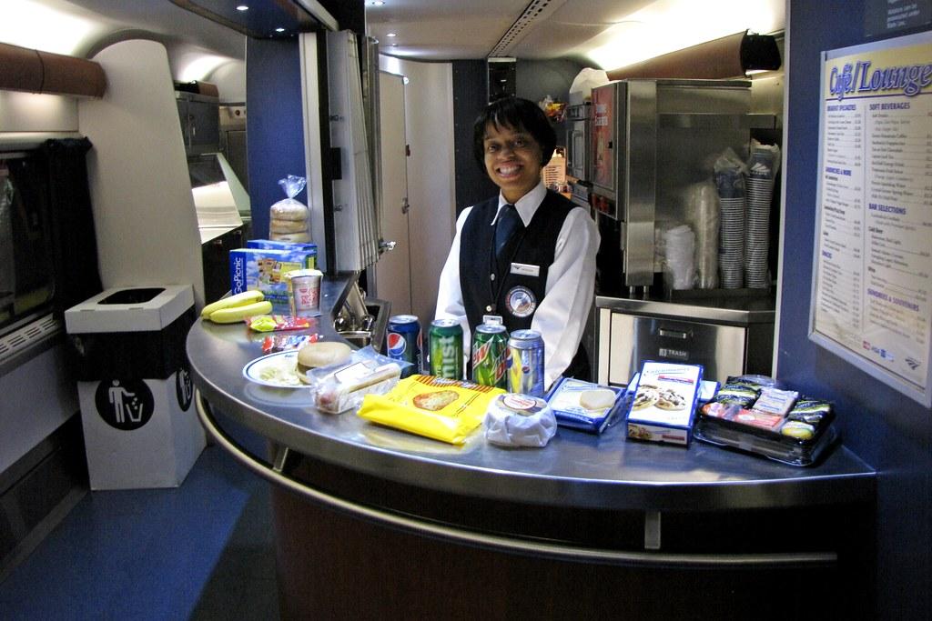 Superliner cafe/lounge car