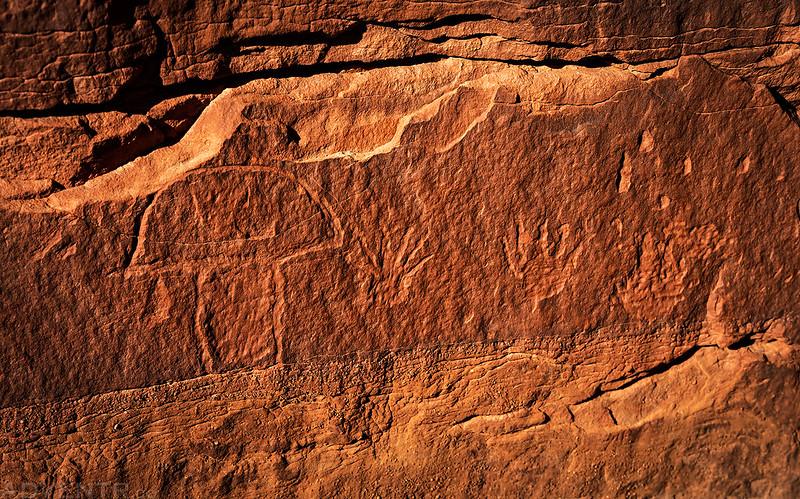 Magic Mushroom Petroglyph
