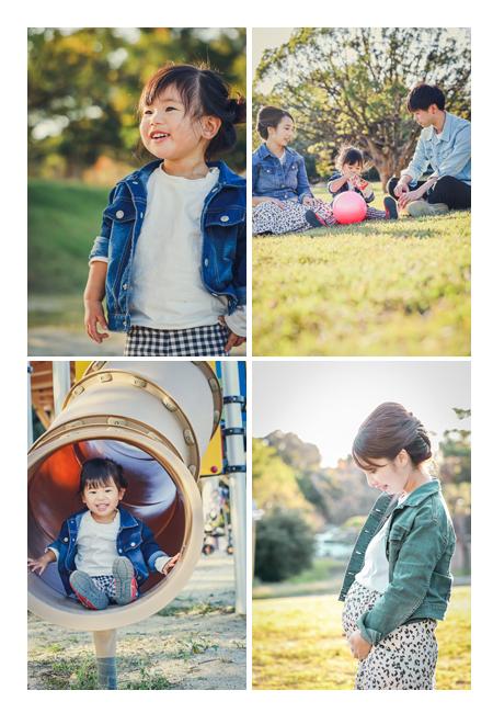 洲原公園で家族写真・マタニティフォト 愛知県刈谷市