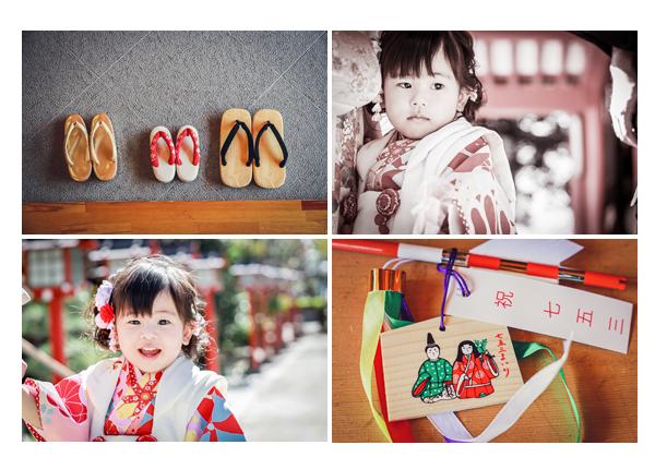 市原稲荷神社で七五三のロケーション撮影 愛知県刈谷市 絵馬 親子の並んだ草履