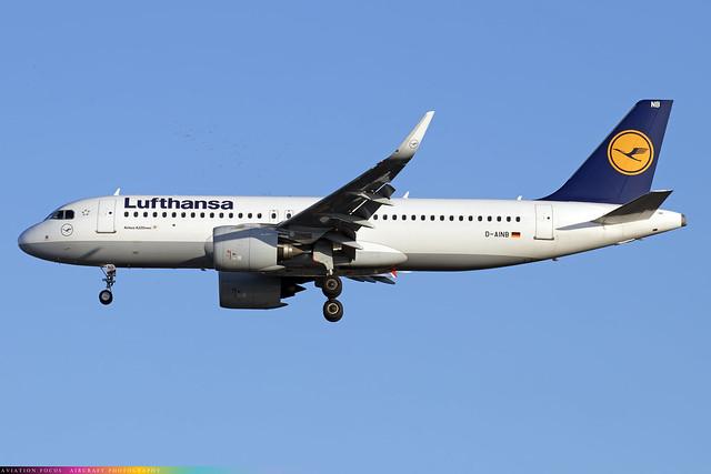 D-AINB  -  Airbus A320-271N  -  Lufthansa  -  LHR/EGLL 4/11/20