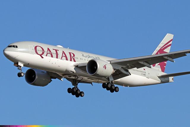 A7-BBD  -  Boeing 777-2DZ(LR)  -  Qatar Airways  -  LHR/EGLL 4/11/20