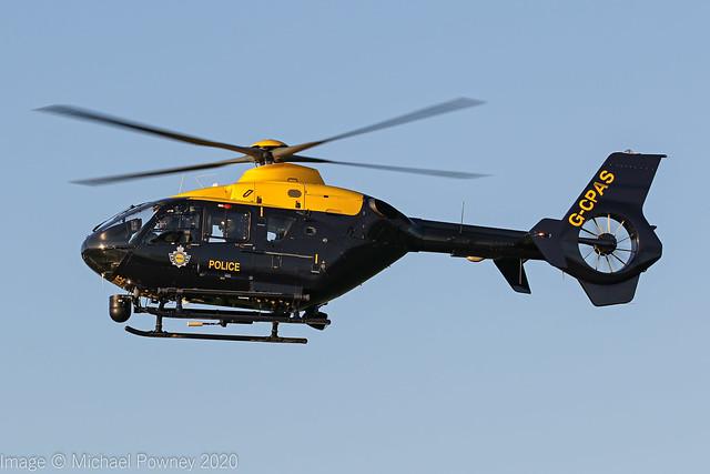G-CPAS - 2010 build Eurocopter EC135 P2+, inbound to the Police ASU at Barton