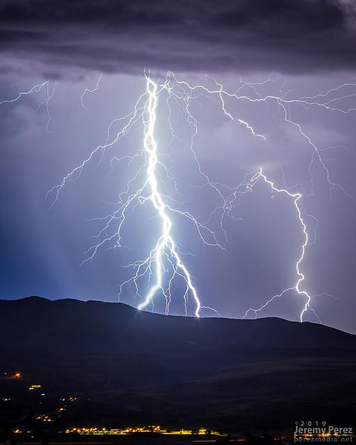 17 September 2019 — Prescott Valley, Arizona — Monsoon lightning