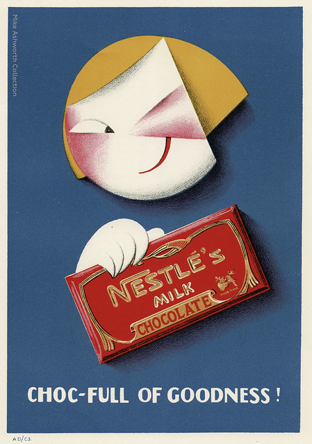 Nestlé's milk chocolate - choc-full of goodness! ; poster issued 1929