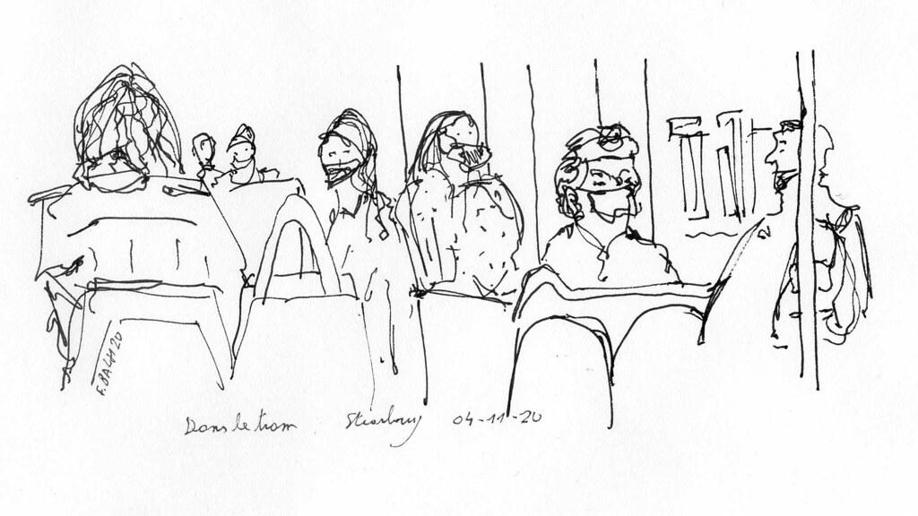 11// 2020-11-04 Dans le tram / In the  tram