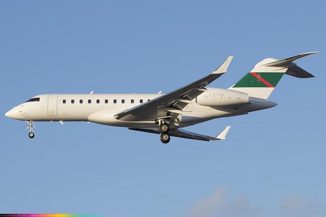 LX-ZAK  -  Bombardier Global 6000  -  Globaljet Luxembourg  -  LHR/EGLL 4/11/20