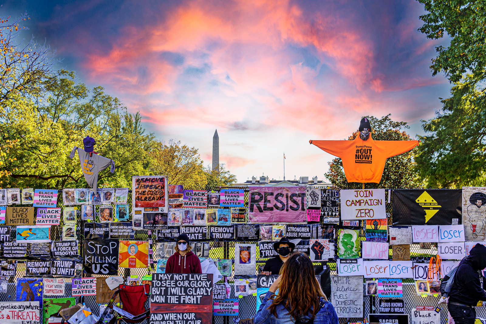 Photos: From outside the White House, Washington, DC USA