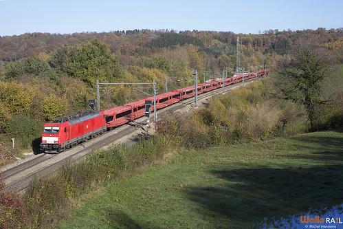 186 334 . DB Cargo . E 47528 . Gemmenich . 04.11.20.