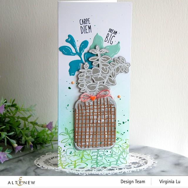 111120-Altenew-Eucalyptus Jar Stamp & Die & Mask Stencil Bundle-Burlap Texture Die