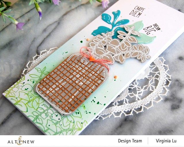 111120-Altenew-Eucalyptus Jar Stamp & Die & Mask Stencil Bundle-Burlap Texture Die (2)