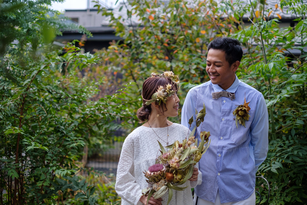 Dried flowers and wedding
