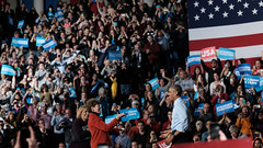 Obama rallying for Hillary Clinton