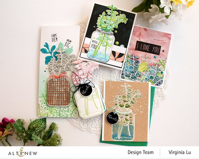 111120-Altenew-Eucalyptus Jar Stamp & Die & Mask Stencil Bundle (6)