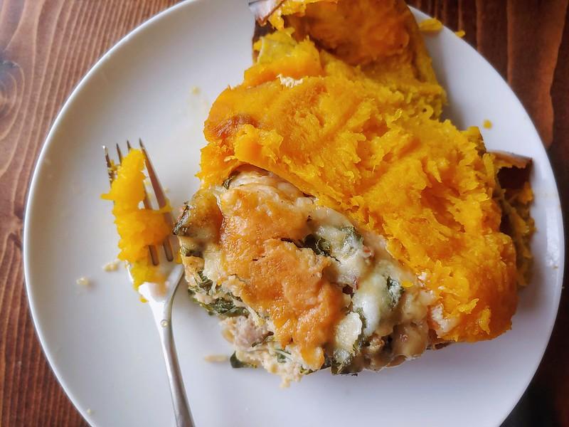 Savory Stuffed Pumpkin with Sausage and Gruyère