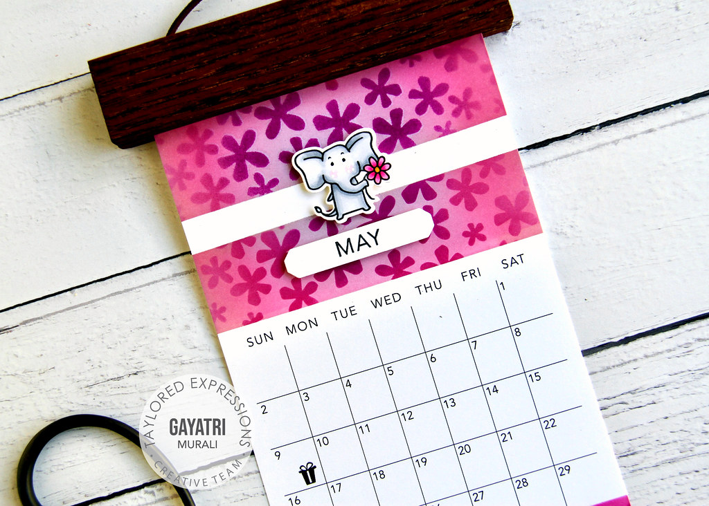 May Calendar closeup