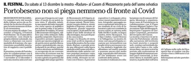 l'Adige 5 novembre 2020