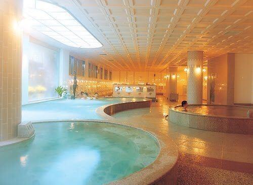 warm therapeutic pools