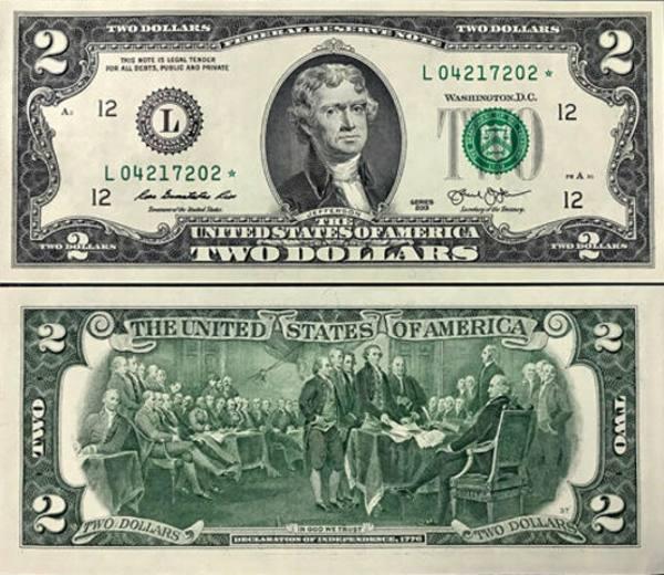 2 americké doláre USA 2013 L, Jefferson P538aL
