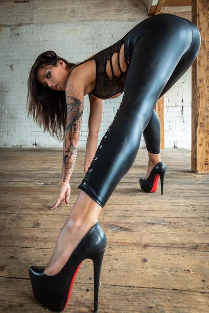 Legs in satin