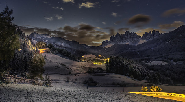 Dolomites...early traffic before sunrise...