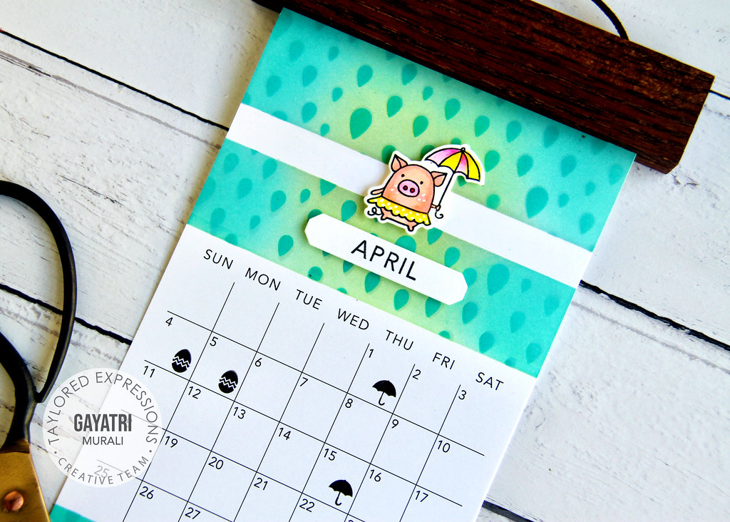 April Calendar closeup1