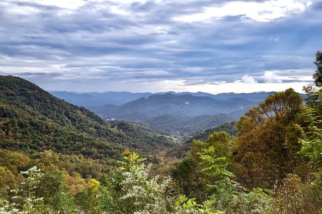 Blue Ridge Mountains in Autumn. Hayesville, NC