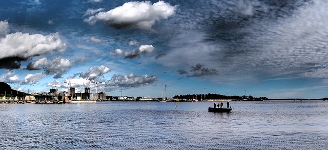 Clouds and fishermen