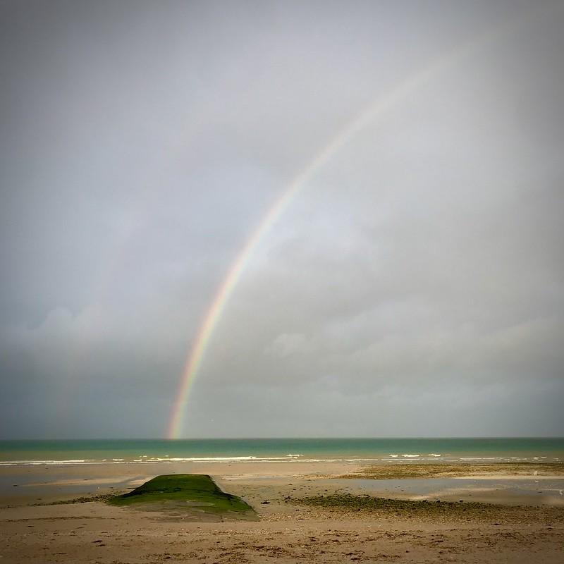 Arc en ciel sur la Manche