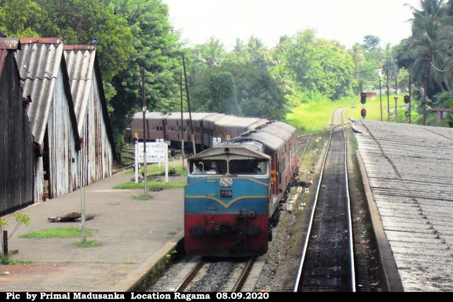 M4 756 passing Ragama with Passenger train in 08.09.2020