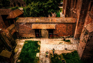 Malbork Castle: architecture under the moat between upper and lower castle, Malbork, Poland. 187-Edita