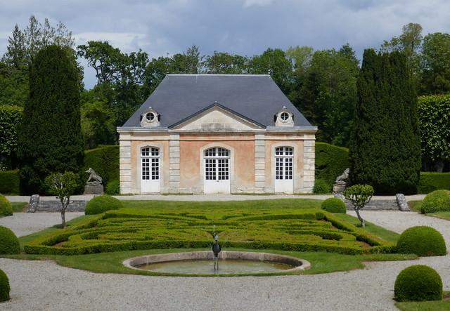 Jardins du château de Sassy, XVIIIe, St Christophe le Jajolet, Orne, Normandie, France.