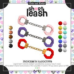 .:Short Leash:. Princess's Handcuffs
