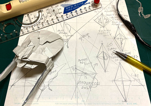 Start DRAFTING the diagram of U.S.S.Reliant origami.
