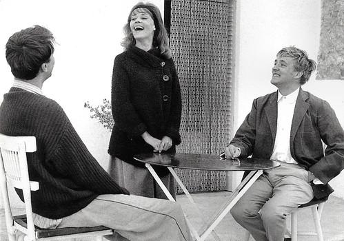 Jeanne Moreau, Oskar Werner and Henri Serre in Jules et Jim (1962)