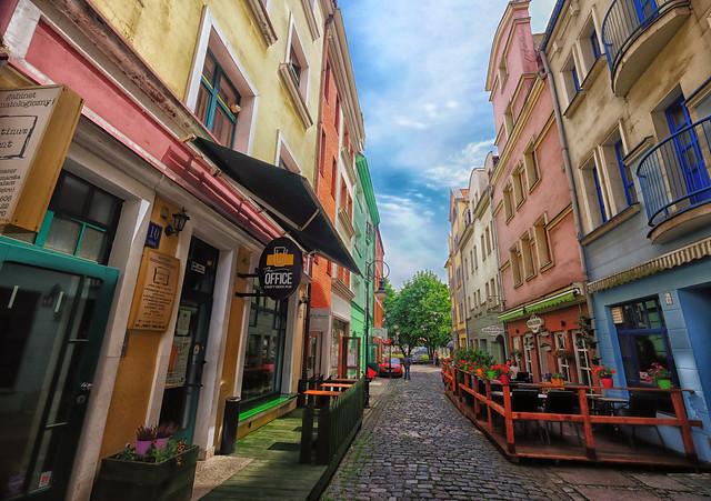 Colorful Old Town Szczecin, Poland