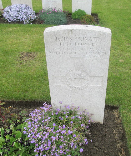 New Zealand Maori Battalion Grave, Birr Cross Roads Cemetery, near Ypres
