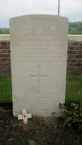 Grave of an Interpreter, Birr Cross Roads Cemetery, Near Ypres