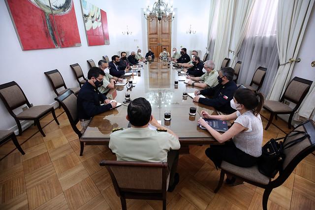 Ministro Delgado se reúne con altos mandos de las Policías | 05.11.20