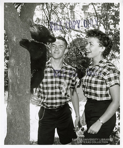 Baylor University-Bear Mascot-2-1950s