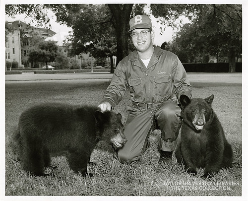 Baylor University-Bear Mascot-6-1950s