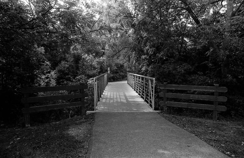 Metal Bridge Crossing at Pinewood Park