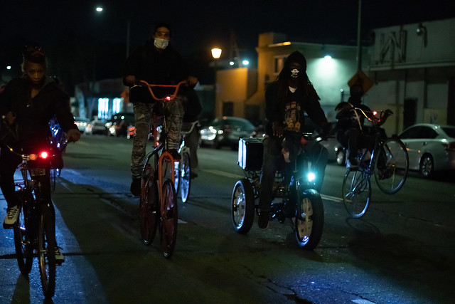 Scraper Bike Team Halloween ride