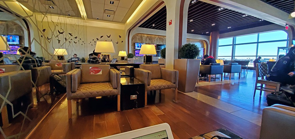 Turkish Airlines lounge at Dulles International Airport