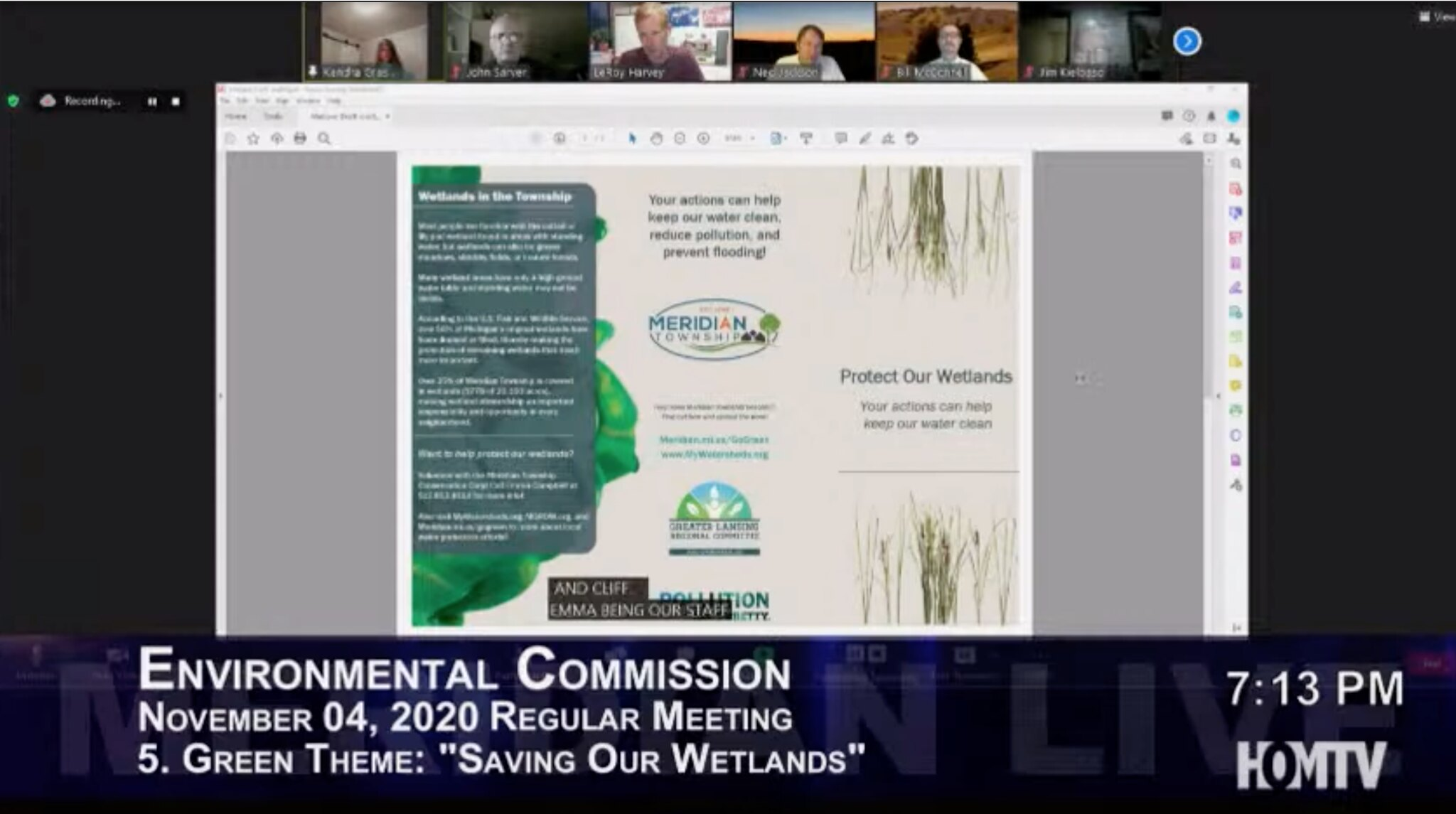 Green Theme Presentation: Save Our Wetlands