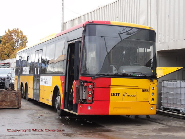 Volvo B12BLE Arriva 1656 survived a miraculous 14 days rather than average 1½ days in the scrapyard because it was delivered when the yard was full and blocked into a corner